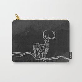 Mountain (Closer Than You Know) Black & White Carry-All Pouch