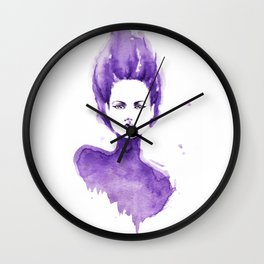 Purple Water Faery Wall Clock