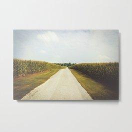 Indiana Corn Field Summers Metal Print