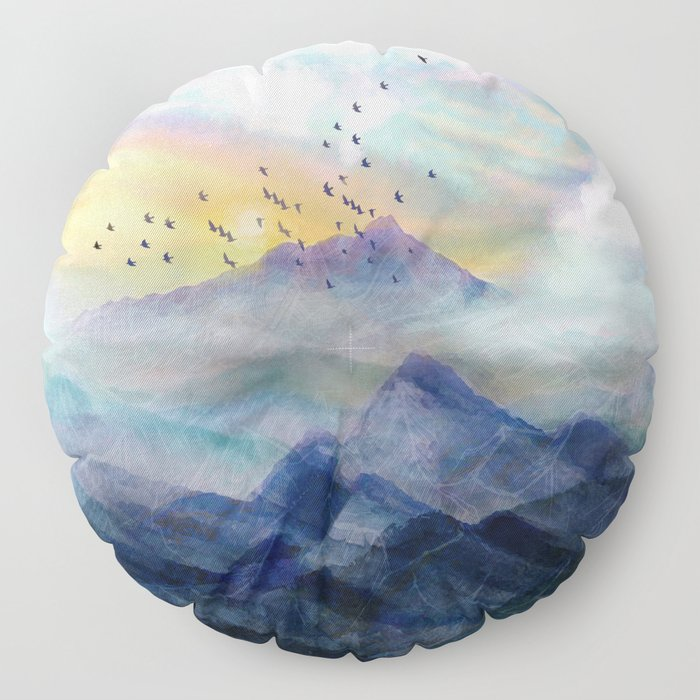 Mountain Sunrise Floor Pillow