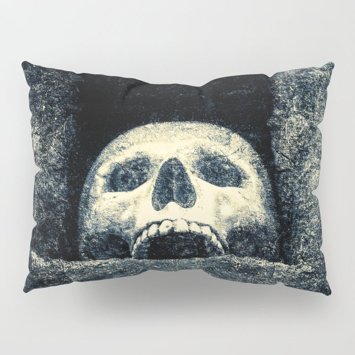 Old Human Skull In A Pagan Temple Pillow Sham
