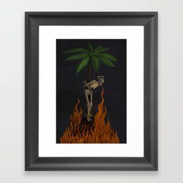 Palm Skeleton Framed Art Print