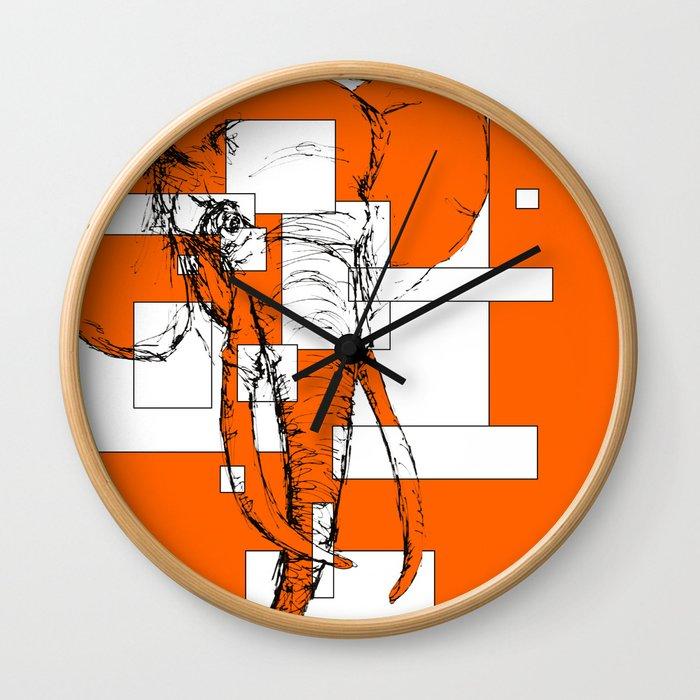 Orange is the New Elephant Wall Clock