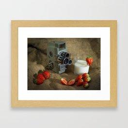 Sekonic and Strawberries Framed Art Print