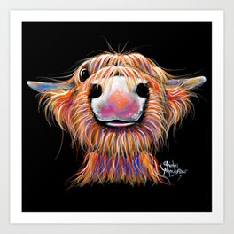 Scottish Highland Cow ' iRN BRoo ' by Shirley MacArthur Art Print