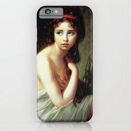 Louise Élisabeth Vigée Le Brun - Julie Le Brun as a Bather iPhone Case