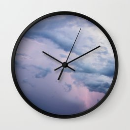 Cotton Candy Lightning Wall Clock