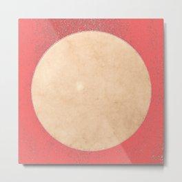 Imperial Coral - Moon Minimalism Metal Print