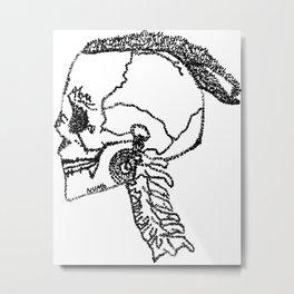 xxx poster rip x merch face tattoo skull  Metal Print