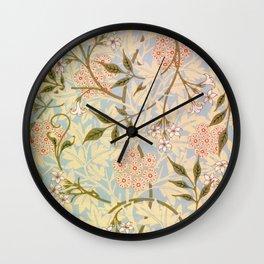 12,000pixel-500dpi - William Morris - jasmine - Digital Remastered Edition Wall Clock