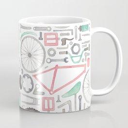 Cycling Bike Parts Coffee Mug