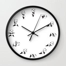 Yoga Bear - Panda Wall Clock