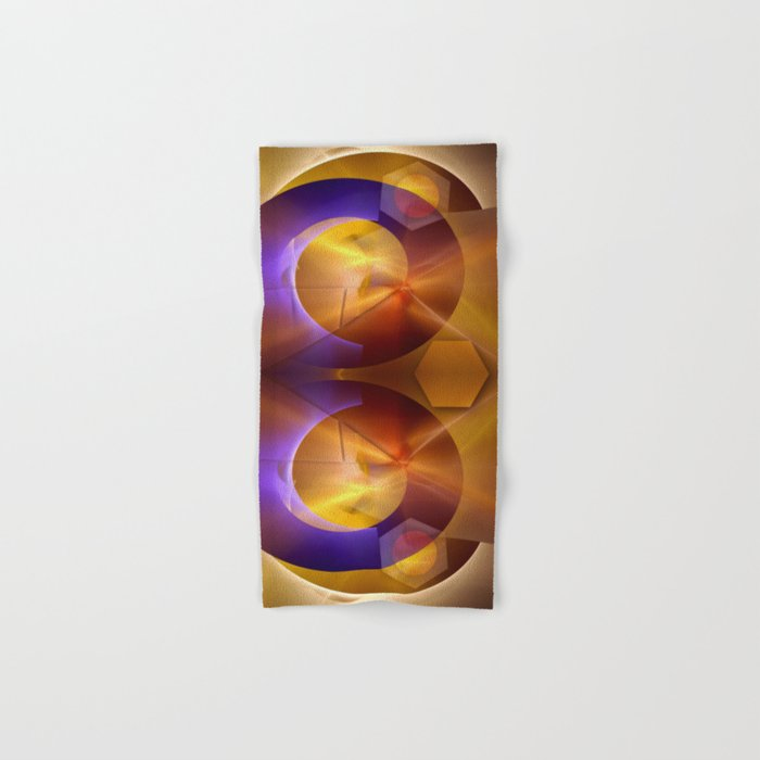 Modern abstract with a golden glow Hand & Bath Towel