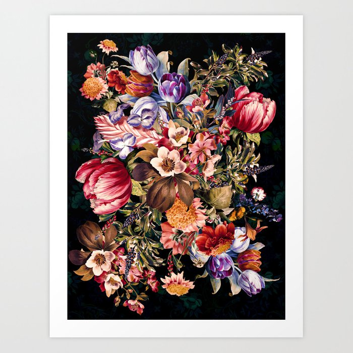 Midnight Garden VII Art Print