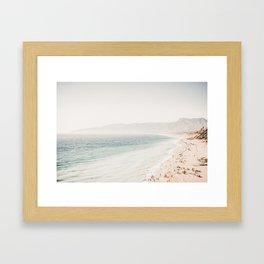 Santa Monica Beach View Framed Art Print