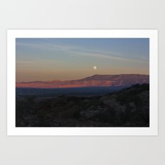 Moon Rise on High Noon 2.0 Art Print