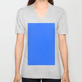 color deep electric blue Unisex V-Neck