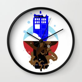 Upside Down Time Travel Wall Clock