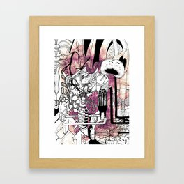 Missing Parts Framed Art Print