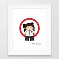 chuck Framed Art Prints featuring Chuck by MythicPhoenix