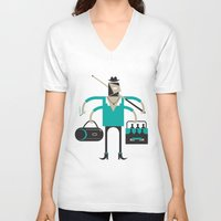 indie V-neck T-shirts featuring Back to Indie Business by Mr Panesar, Illustration & Design