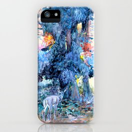 Deer at Lake McDonald - Charles Marion Russell iPhone Case