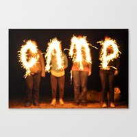 camp Canvas Prints featuring CAMP by dreabradley