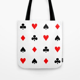 Playing cards pattern Tote Bag