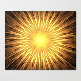 Rays of GOLD SUN abstracts Canvas Print