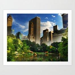 Central Park Fantasy Land Art Print