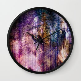 Wolf Forest : These Are My Forests Wall Clock