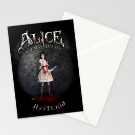 Alice Madness Returns Hysteria Game Design Stationery Cards