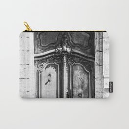 Doorway | Hotel de La Grange Nimes France Vintage Rustic Old World Black and White Architecture Carry-All Pouch