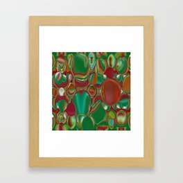 bubbly all over Framed Art Print