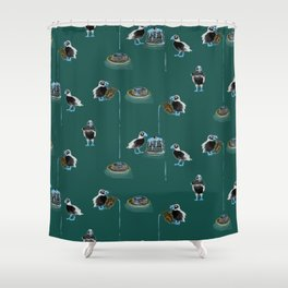 Puffins Love Pancakes Shower Curtain