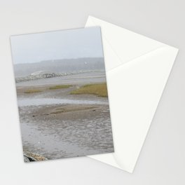 Salt Water Marsh Snow Squall Stationery Cards
