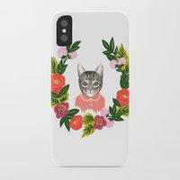 leah flores iPhone & iPod Cases featuring Scout con Flores by Leah Romero