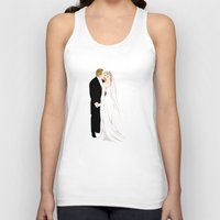 wedding Tank Tops featuring Wedding Invitation by Lily Art