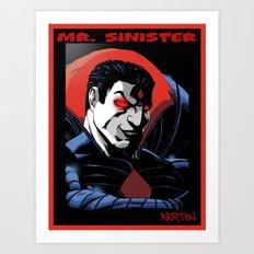 Mr. Sinister Art Print