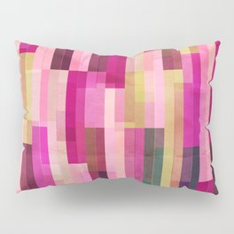 Pinks and Parallels Pillow Sham