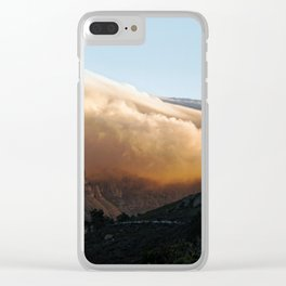 Crowned in clouds Clear iPhone Case