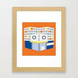 japanese mall Framed Art Print