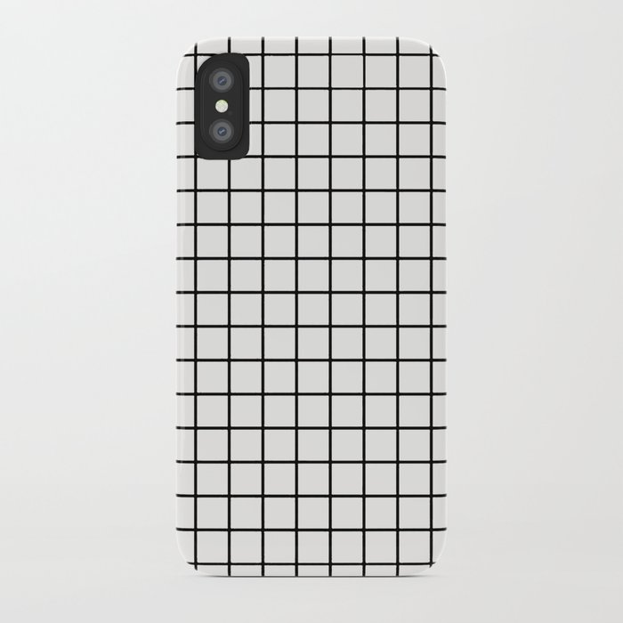 cheap for discount 6e831 de68b White & Black Grid iPhone Case by egdesigns