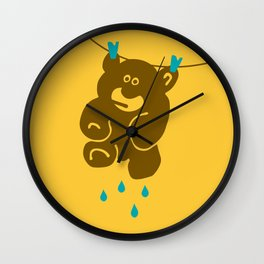 Teddy's Wet Wall Clock