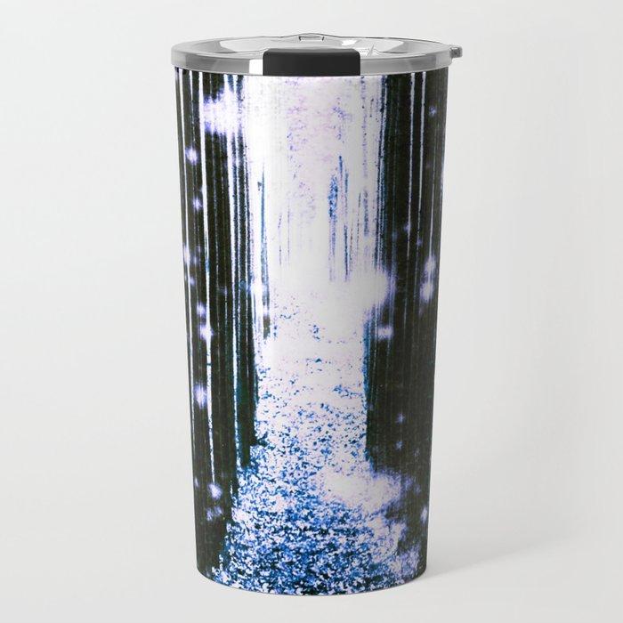Magical Forest Dark Blue Elegance Travel Mug