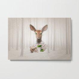 Would you like a cup of tea, my deer ?  Metal Print