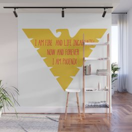 i am fire and life incarnate now and forever i am dark phoenix Wall Mural