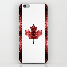 Canada flag red sparkles iPhone & iPod Skin