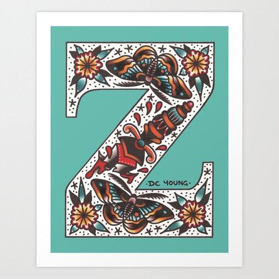 Society 6 Alphabet - Z Art Print
