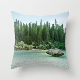 Nature corner at the secluded Natural Pool on Isle of Pines in New Caledonia. Throw Pillow